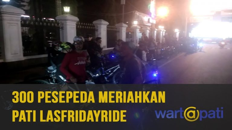 300 Pesepeda Meriahkan Pati Last Friday Ride