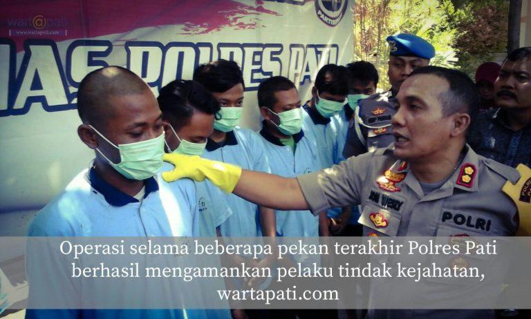 Begal Juga Diamankan Saat Operasi Sikat Polres Pati